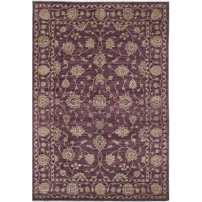One-of-a-Kind Chobi Twisted Hand-Knotted Violet Area Rug