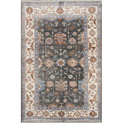 Beth Hand-Knotted Dark Teal Area Rug
