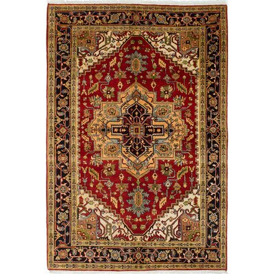Serapi Heritage Wool Hand-Knotted Cream/Dark Red Area Rug