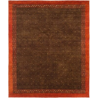 One-of-a-Kind Jaidyn Wool Hand-Knotted Brown Area Rug