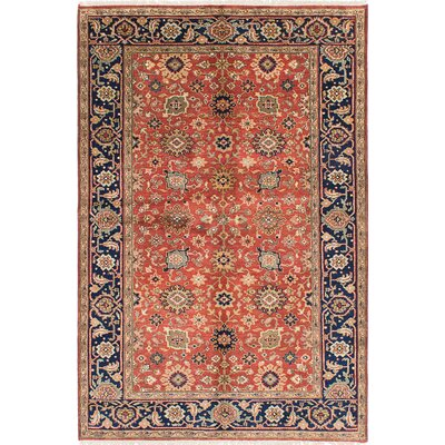 Serapi Heritage Wool Hand-Knotted Copper/Dark Navy Area Rug
