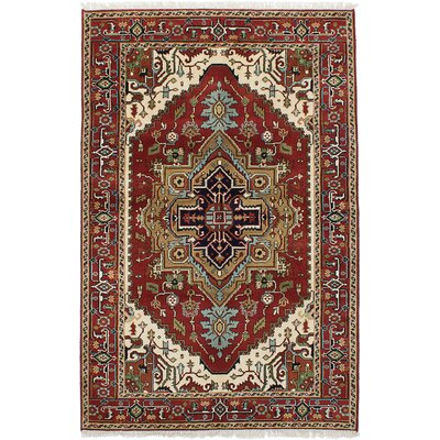 One-of-a-Kind Serapi Heritage Wool Hand-Knotted Dark Copper Area Rug