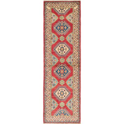Bernard Wool Hand-Knotted Cream/Dark Burgundy Area Rug