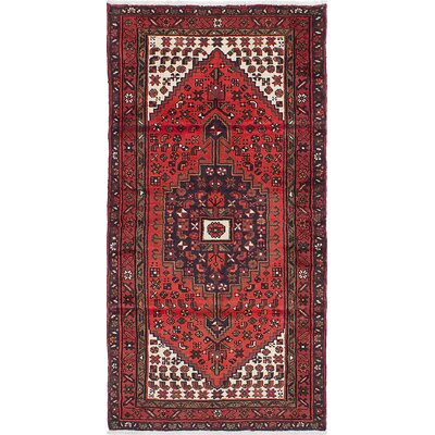Anston Wool Hand-Knotted Red Area Rug