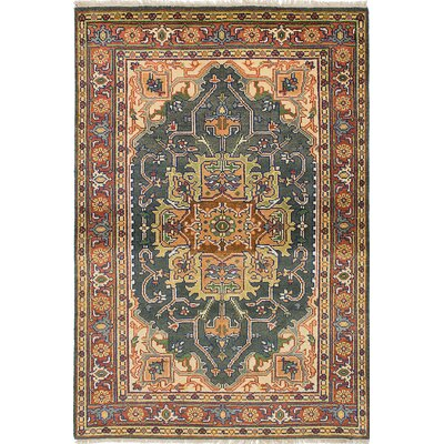 Serapi Heritage Wool Hand-Knotted Teal Area Rug