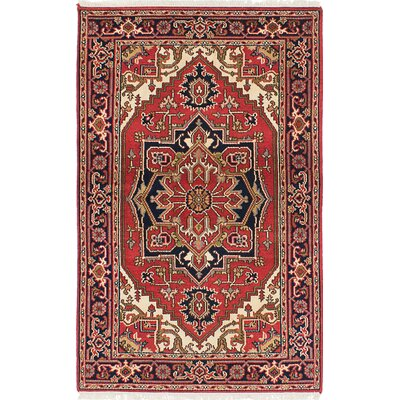 Serapi Heritage Wool Hand-Knotted Red Area Rug