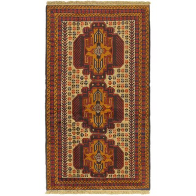Finest Rizbaft Wool Hand-Knotted Brown Area Rug
