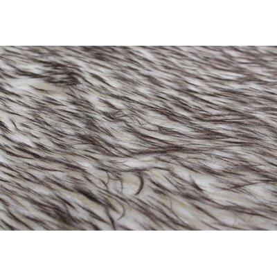 Royale Octo Hand-Woven Faux Fur Gray Tip Area Rug