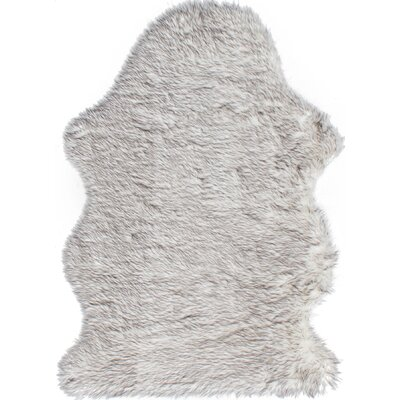 Royale Single Faux Sheepskin Gray Area Rug