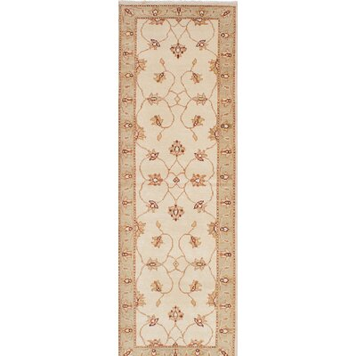 One-of-a-Kind Barrows Hand-Knotted Beige Area Rug