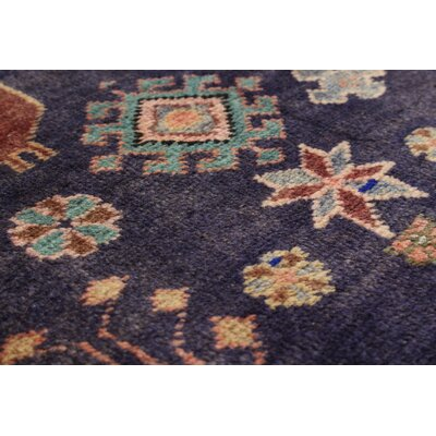 One-of-a-Kind Lin Hand-Knotted Blue/Brown Area Rug