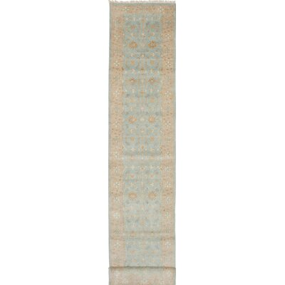 One-of-a-Kind Li Hand-Knotted Beige/Blue Area Rug