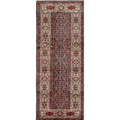 Hosseinabad Hand-Knotted Beige/Brown Area Rug