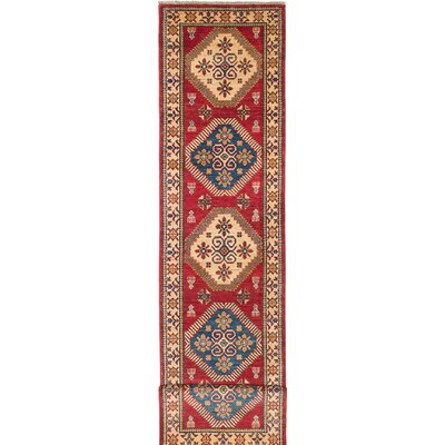 Bernard Hand-Knotted Beige/Red Area Rug