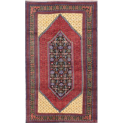 One-of-a-Kind Pacheco Hand-Knotted Red/Beige Area Rug