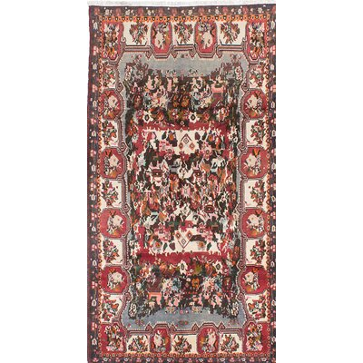 Bakhtiar Hand-Knotted Red/Beige Area Rug