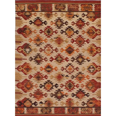 Esme Hand-Woven Brown/Beige Area Rug