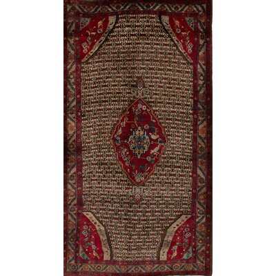 One-of-a-Kind Koliai Hand-Knotted Brown/Red Area Rug