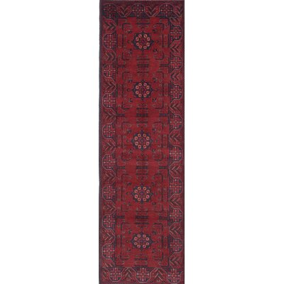 Rosales Hand-Knotted Runner Red Area Rug
