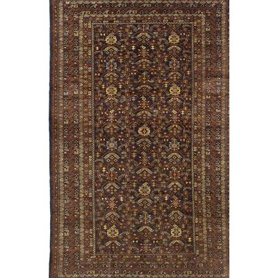 Finest Rizbaft Hand-Knotted Brown Area Rug