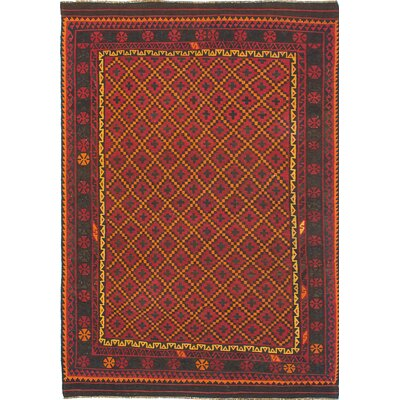 One-of-a-Kind Bruntons Handmade Wool Red/Yellow Area Rug