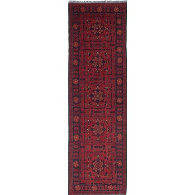 One-of-a-Kind Rosales Hand-Knotted Red/Black Area Rug