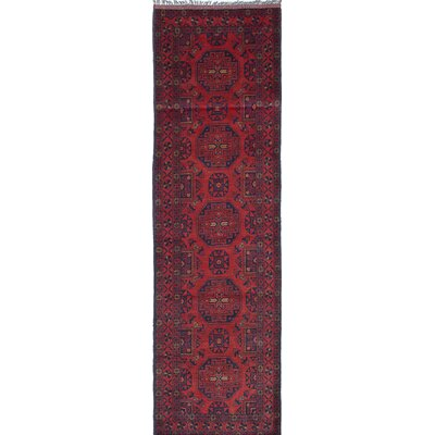 Rosales Hand-Knotted Wool Red Area Rug