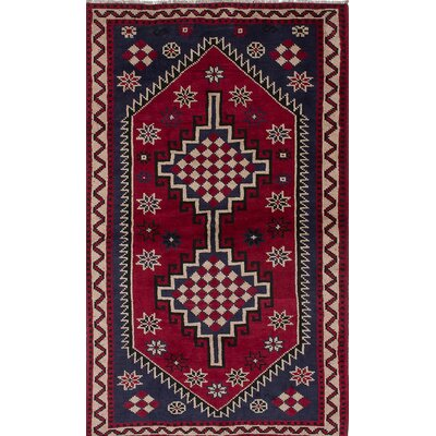 Witt Hand-Knotted Red/Blue Area Rug