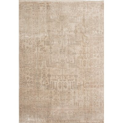 Jules Ushak Hand-Knotted Beige Area Rug