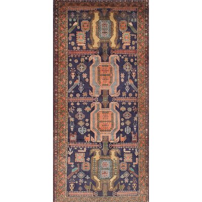 Lin Hand-Knotted Blue/Brown Area Rug