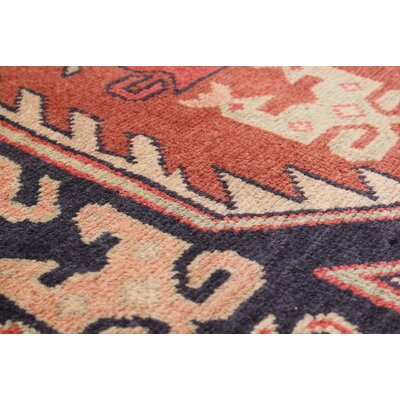 One-of-a-Kind Lin Hand-Knotted Orange/Beige Area Rug