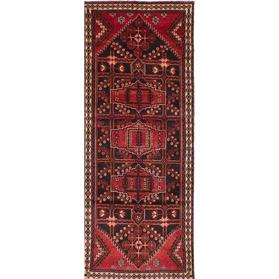 Anston Hand-Knotted Black/Red Area Rug