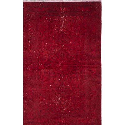 One-of-a-Kind Transition Hand-Knotted Red Area Rug