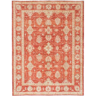 Chobi Finest Hand-Knotted Orange Area Rug