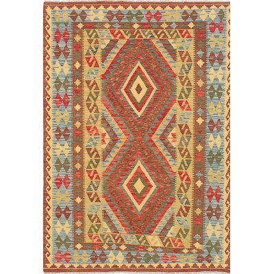 Hereke Kilim Hand-Woven Brown/Beige Area Rug