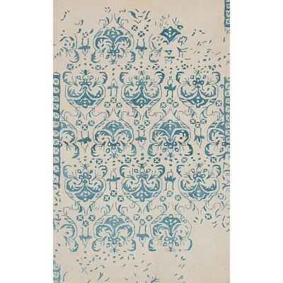 Minotaur Hand-Tufted Beige/Blue Area Rug