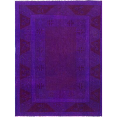 Transition Hand-Knotted Purple Area Rug