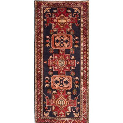 One-of-a-Kind Bilboroughs Hand-Knotted Blue/Red Area Rug