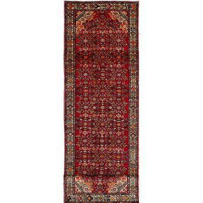 Hosseinabad Hand-Knotted Red Area Rug