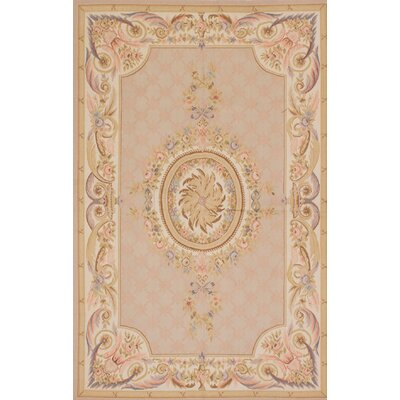 One-of-a-Kind Kirshelle Hand-Knotted Beige Area Rug