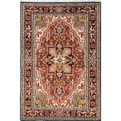 Larsen Hand-Knotted Beige/Red Area Rug