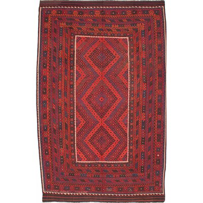 One-of-a-Kind Bruntons Handmade Wool Red Area Rug