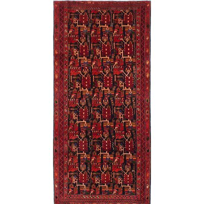 One-of-a-Kind Bilboroughs Hand-Knotted Red Area Rug