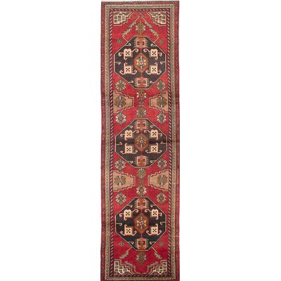 Bilboroughs Hand-Knotted Red/Beige Area Rug