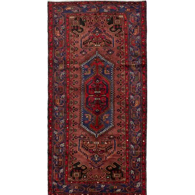 One-of-a-Kind Roth Hand-Knotted Red/Blue Area Rug