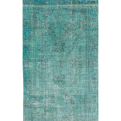 Transition Hand-Knotted Green Area Rug