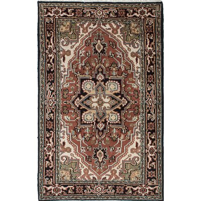 Larsen Hand-Knotted Rectangle Black/Brown Area Rug