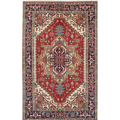 One-of-a-Kind Serapi Heritage Hand-Knotted Red/Beige Area Rug