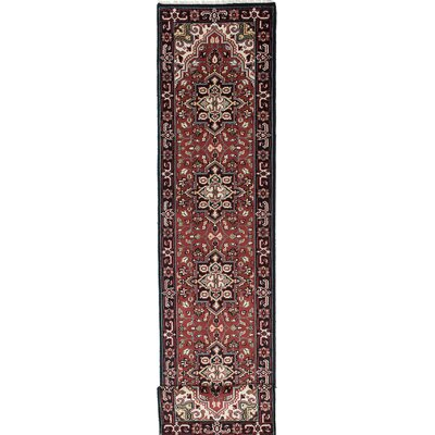 One-of-a-Kind Bovell Hand-Knotted Red/Black Area Rug