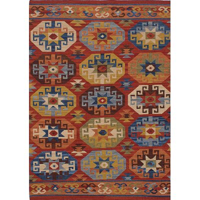 Esme Hand-Woven Brown/Blue Area Rug